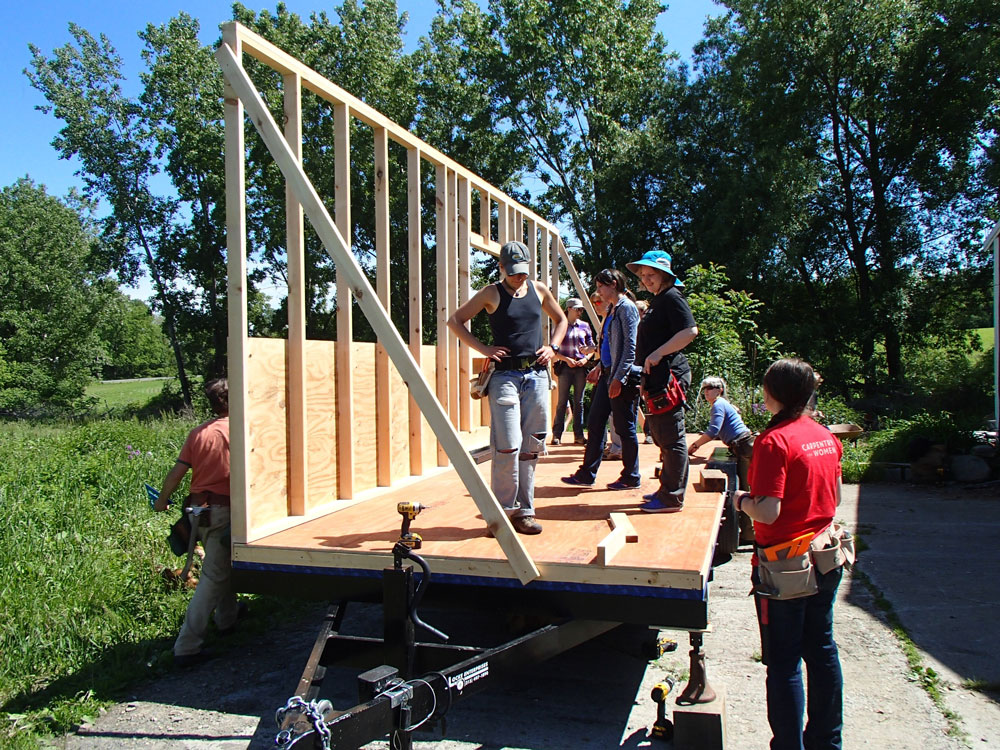 Rough framing build a tiny house june 12 16 2017 for Rough cost to build a house